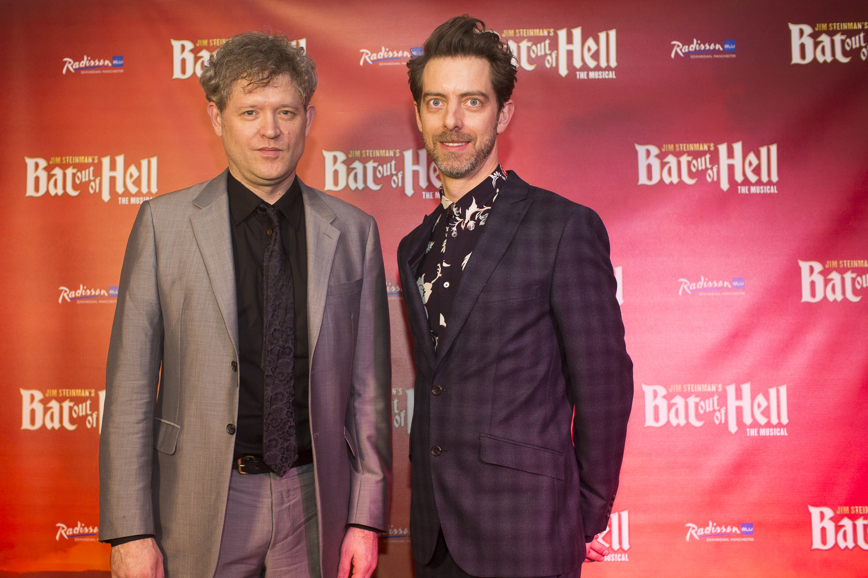 Director Jay Sheib & Designer Jon Bausor at First Night of Bat Out of Hell Manchester Opera House credit Phil Trage