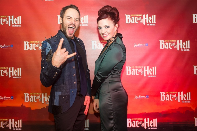 Rob Folwer (Falco) & Sharon Sexton (Sloane) at First Night of Bat Out of Hell Manchester Opera House credit Phil Tragen