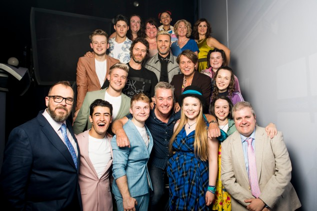 Director Kim Gavin (front centre) with Take That and the cast of THE BAND, credit Matt Crockett