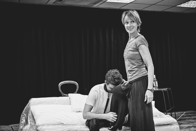 TB Matt Beveridge and Johanne Murdock in rehearsals for The ToyBoy Diaries 1 credit Claire Bilyard