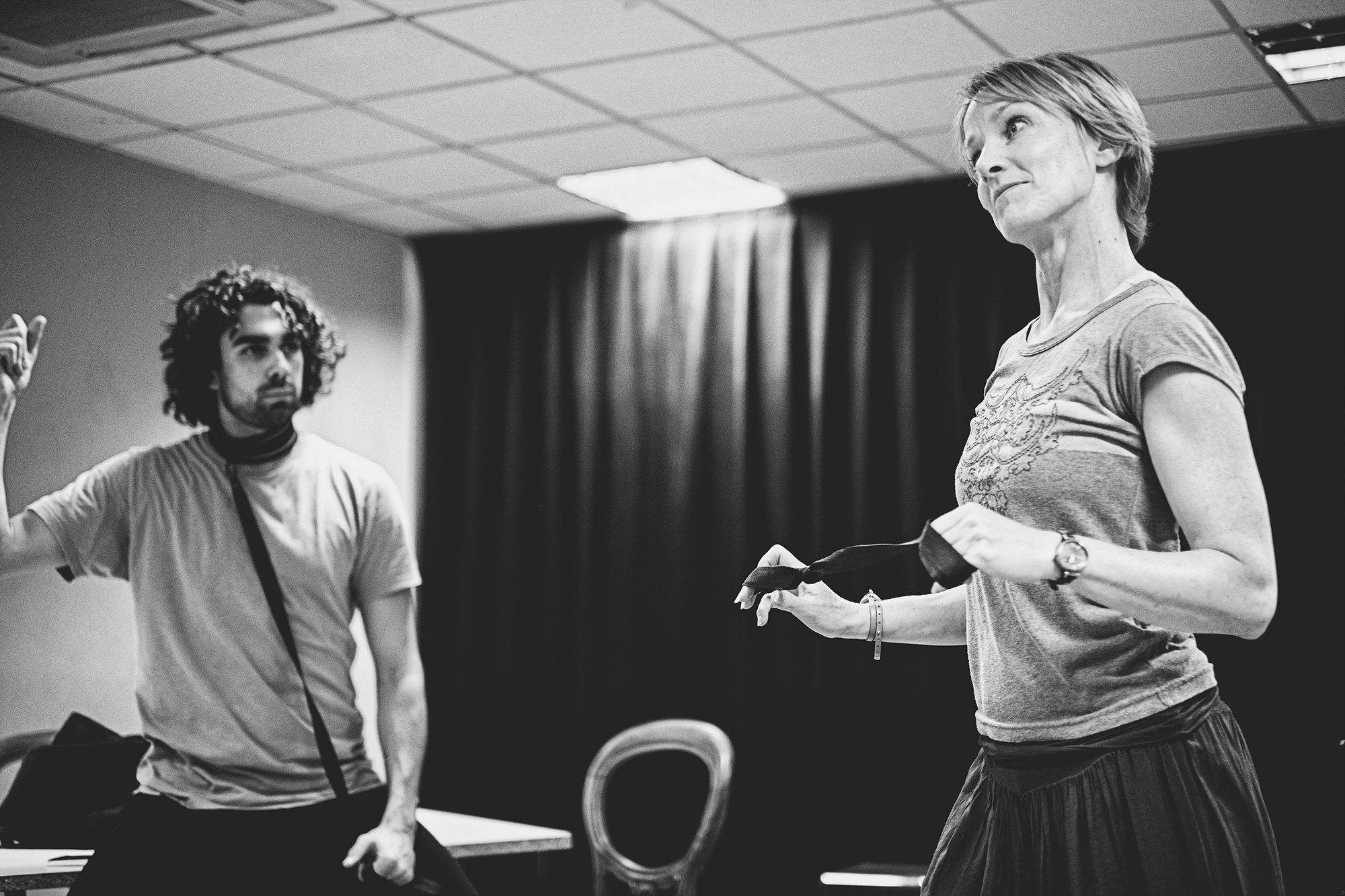 TB Sharif Afifi and Johanne Murdock in rehearsals for The ToyBoy Diaries credit Claire Bilyard