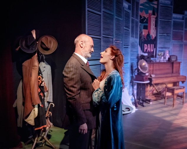 Jerome Pradon (George) & Kimberley Blake (Giulietta) in Aspects of Love at Hope Mill Theatre. Credit Anthony Robling
