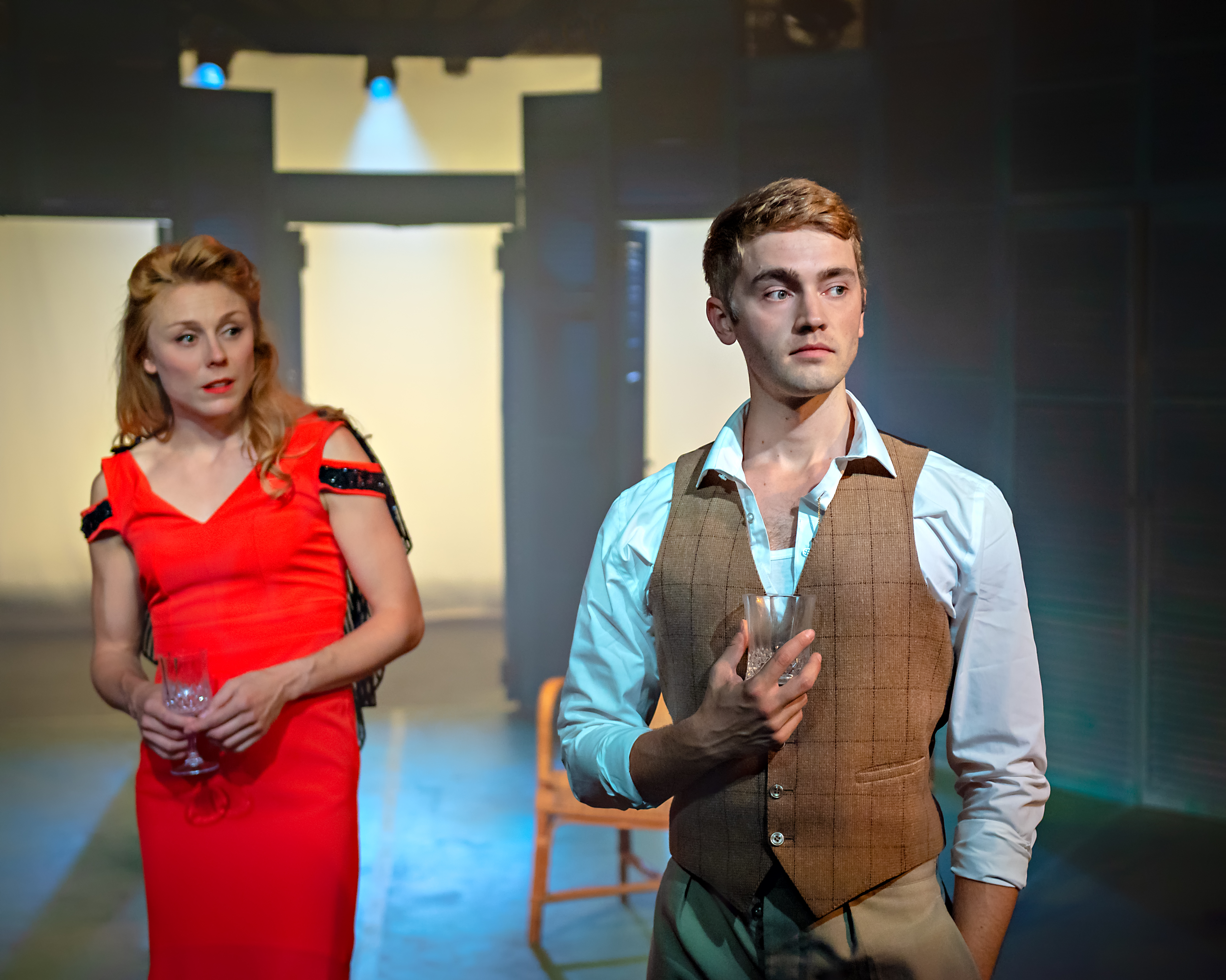 Kelly Price (Rose) & Felix Mosse (Alex) in Aspects of Love at Hope Mill Theatre 2. Credit Anthony Robling