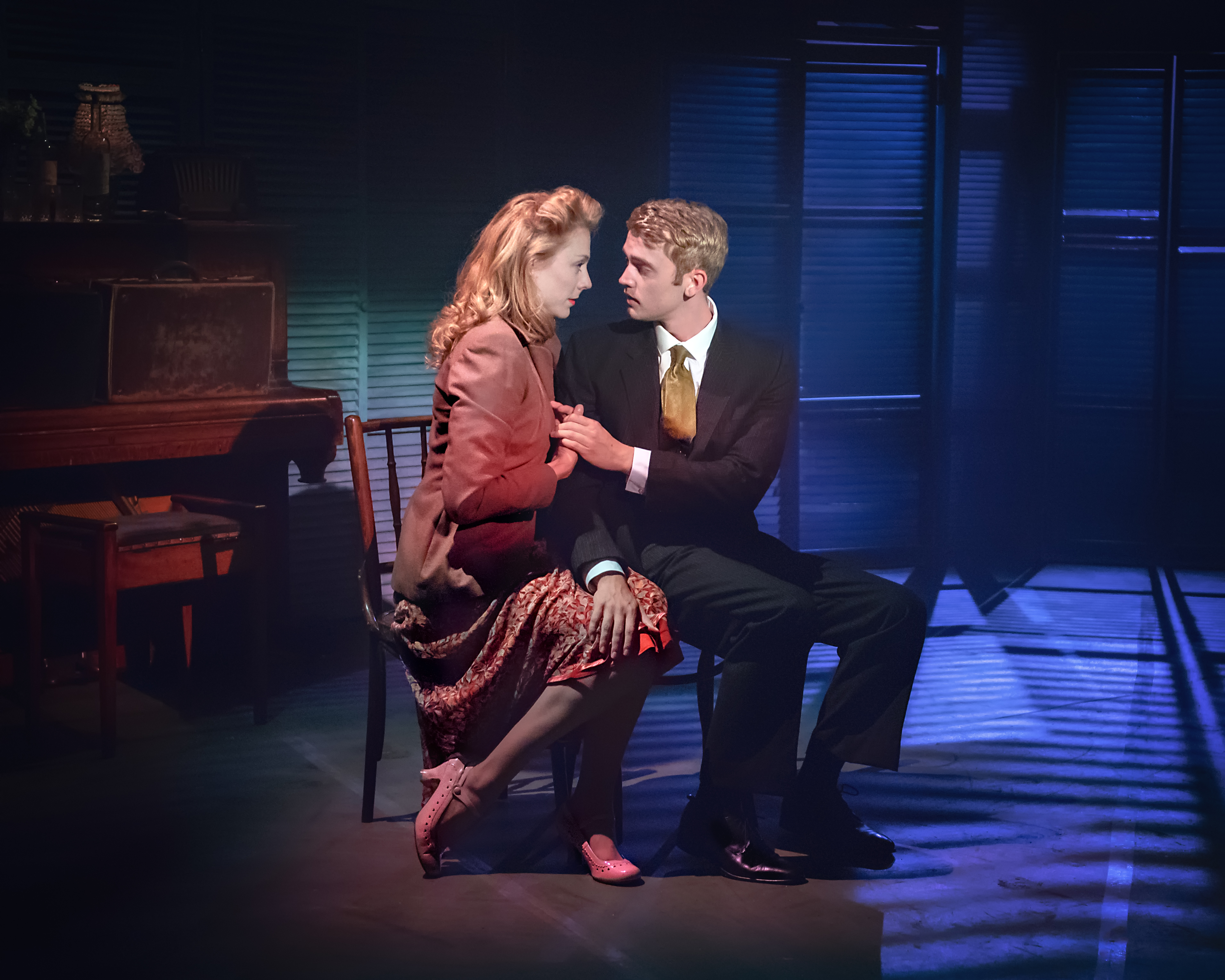 Kelly Price (Rose) & Felix Mosse (Alex) in Aspects of Love at Hope Mill Theatre. Credit Anthony Robling