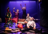 LtoR Jessie May (Agnes), Tracie Bennett(Mame), Harry Cross (Young Patrick) and Bejamin Wong (Ito) in Mame credit Pamela Raith